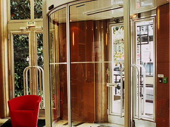 Elegant and functional these doors have a wide radius of curvature. This is great for wide and deep entrances. Our round and curved doors turn an entrance ... & automatic door sliding doors Doortronix Inc. Sliding Swinging ... Pezcame.Com